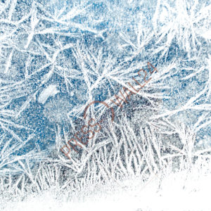 Фотофон Замершее снежное стекло 3х2 метра